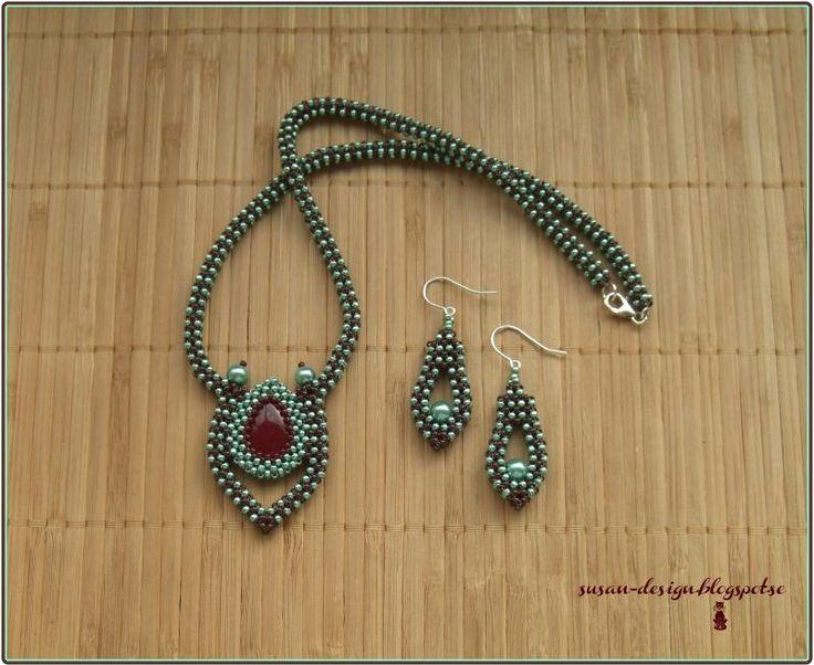 Mina smycken: Rubin onyx