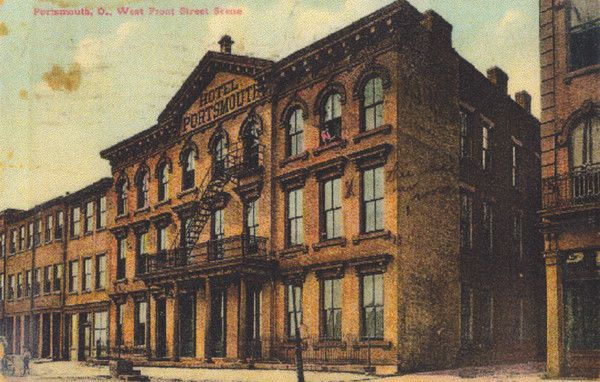 Hotel Portsmouth was located at 177-179-181 West Front Street. Previously the Dever House in 1887-88, the hotel became Hotel Portsmouth in the 1890s. It closed in 1956. The building was also once the Union Mission.