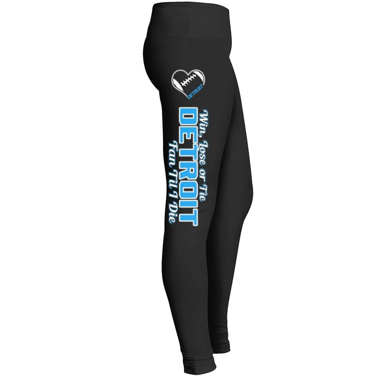 Do you love Detroit? This leggings is the best way to show your support for the Detroit Football. Super comfy and you will feel great in them!