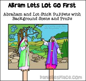 Abraham Lets Lot Go First Bible Lesson For Children From