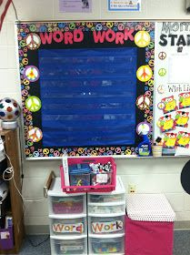 Groovin' Into Third Grade: WordWork BB...smart to use a pocket chart on it!