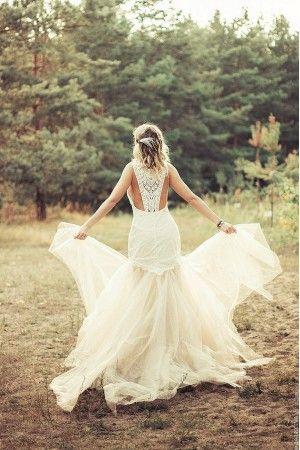 """Свадебное платье с открытой спиной """"Monterey"""""""