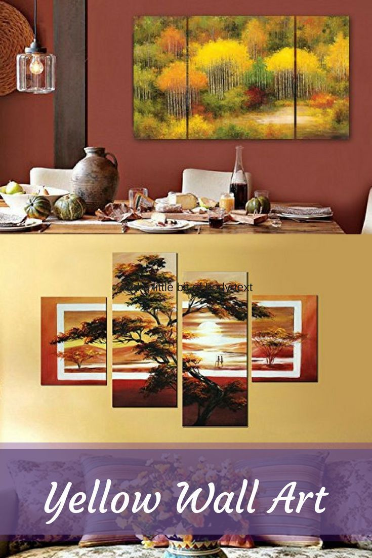 Yellow Accent Wall Decor : Best yellow wall art ideas on