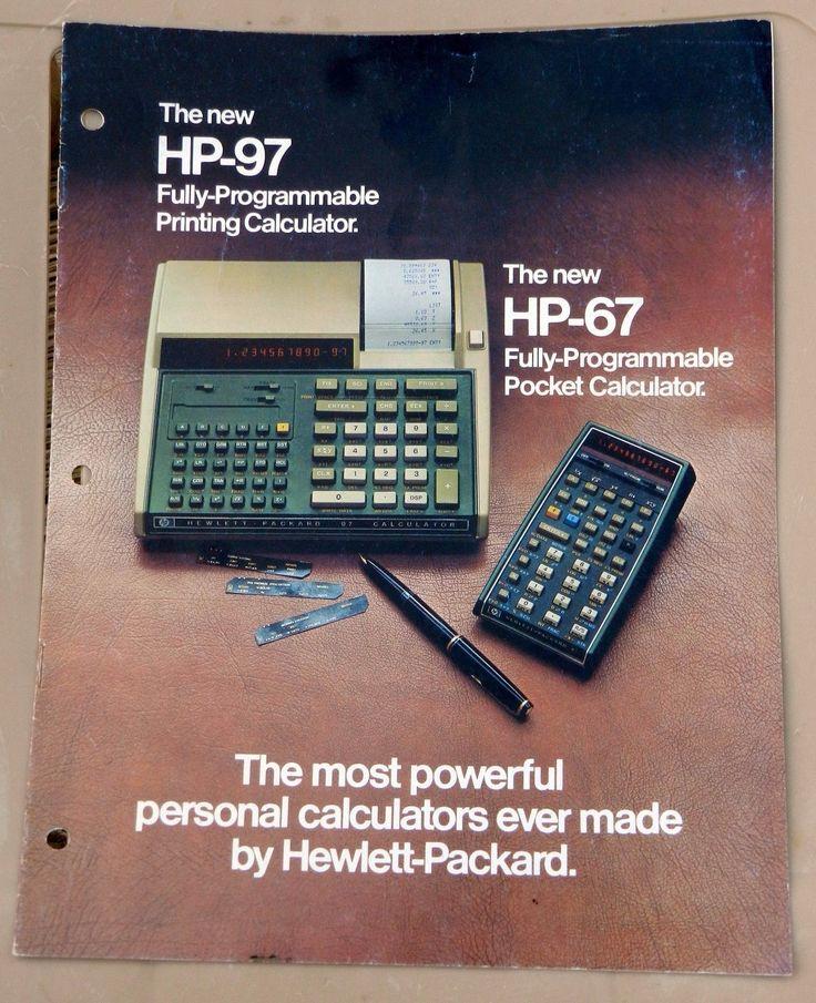 HP 97 Programmable Printing HP 67 Programmable Pocket Calculators Brochure | eBay