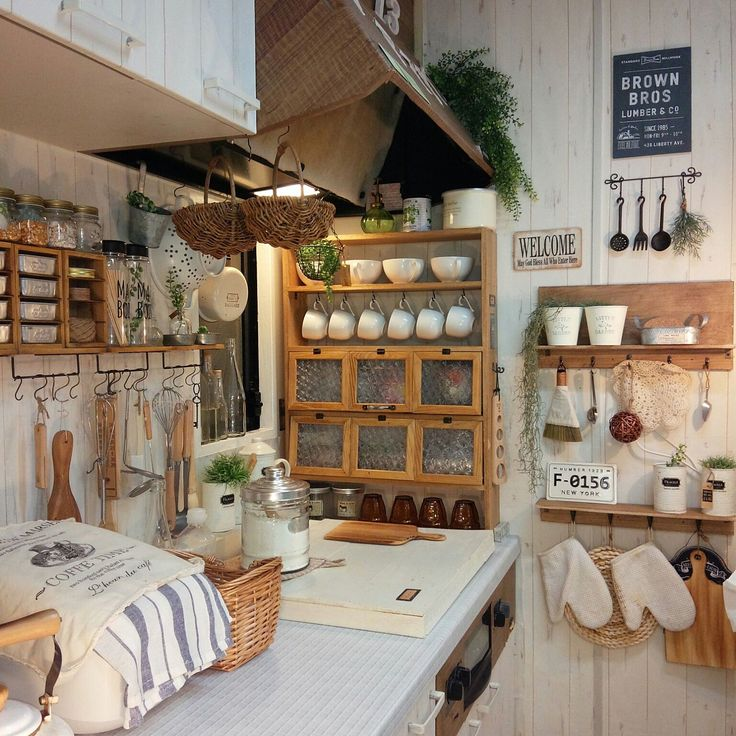 A little bit of everything in this kitchen ... some great craft ideas too.