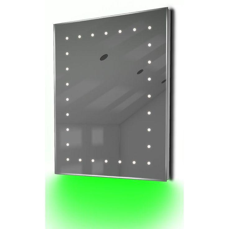 Miroir Toilette Rasage Bluetooth Anti-Buée Capteur Rasoir Lumineux K9Staud – Couleur LED : Turquoise