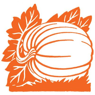 Free Download, Vintage Thanksgiving Graphics - Pumpkin on Vine - The Graphics Fairy, She has Gazillions More Visit Her Site.