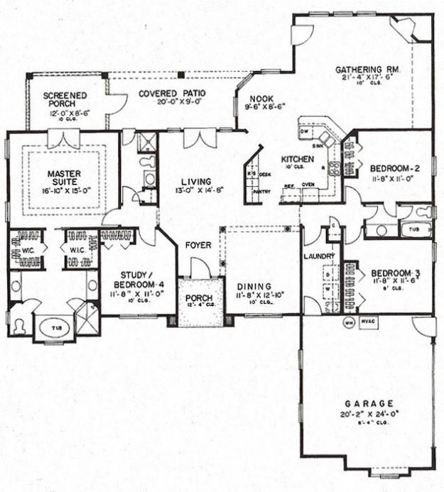 Americau0027s Best House Plans   Florida Plan 4766 00113   2,409 Sq Ft   1