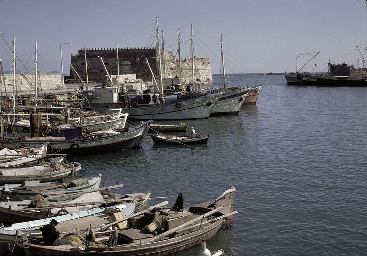 Iraklion harbor in 1967