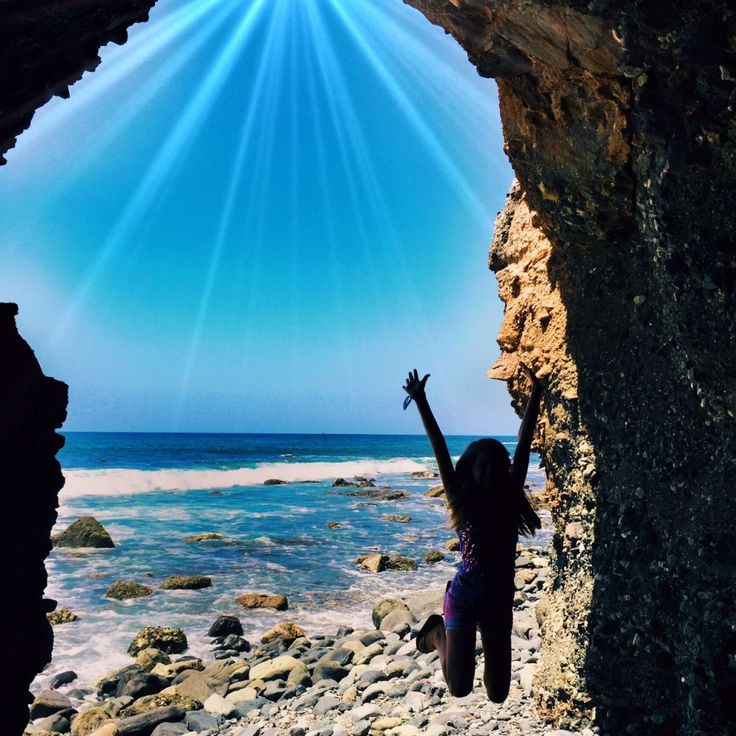 Orange County Sea Cave at Dana Point Beach
