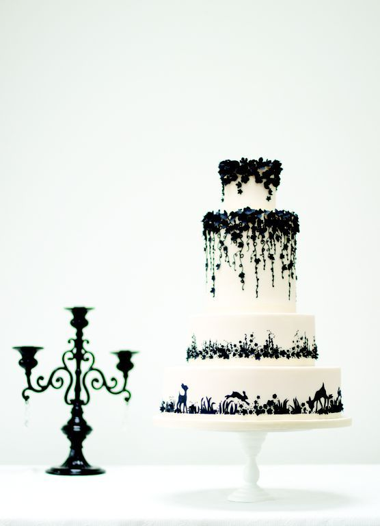 black and white cakes from 1 day ago | Black and white wedding cakes Archives - Style & the Bride | Designer ...