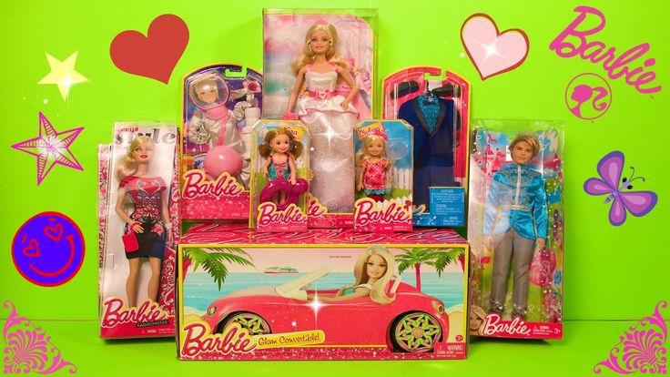 Boneca Barbie em Portugues abrindo Brinquedos Carro Barbie Barbie Casame...