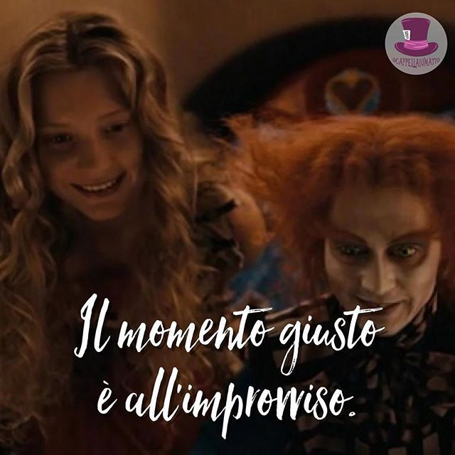 Il momento giusto è all'improvviso. • #cappellaio #madhatter #madness #wonderland #alice #teaparty #love #instagood #tbt #beautiful #cute #happy #followme #me #follow #friends #fun #smile #tagsforlikes #instalike #igers #style #nofilter #amazing #life #sky #tweetgram #tumblr #lol #xoxo