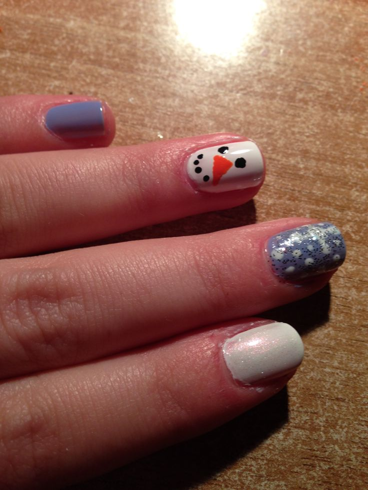 """""""Frosty the snowman"""" Nails"""