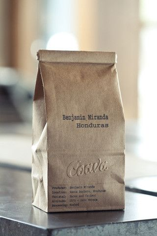 Coffe Bean Packaging Brown Paper Bag Embossing