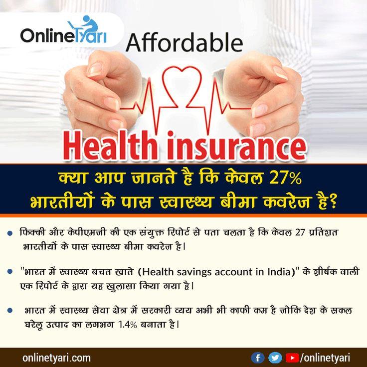 क्या आप जानते है किकेवल 27% भारतीयों के पास स्वास्थ्य बीमा कवरेज है? करिए अपने करंट अफेयर्स की तैयारी #Onlinetyari के साथ: https://onlinetyari.com/hindi/latest-news-articles/keval-27-bharatiyon-i59758.html?utm_content=buffer01f53&utm_medium=social&utm_source=pinterest.com&utm_campaign=buffer #tyarikaro #currentaffairs #mocktest #freemocktest #currentaffairs2017 #gk #gk2017