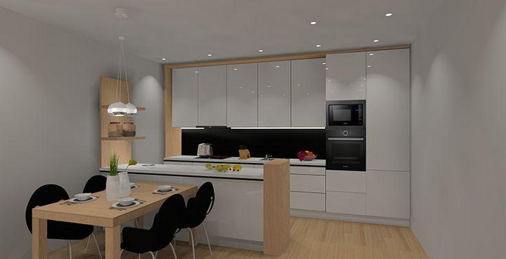 Archiwa Aranzacja Salonu Z Aneksem Kuchennym 25m2 Projekty I Architektura Wnetrz Wystroj Wnetrz Home Decor Interior Kitchen Cabinets