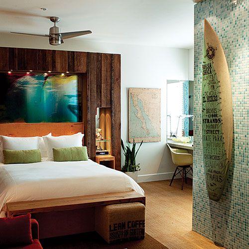 サーファーのお部屋をイメージ。