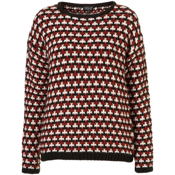 Knitted Chunky Stitch Jumper (€75) found on Polyvore