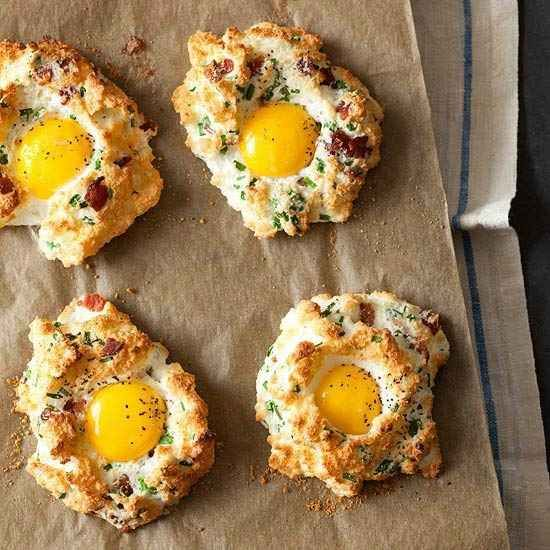 Eggs In Clouds, and 30 other low-carb breakfast recipes. some look good, some look strange... #breakfast #brunch #recipe #snack #recipes