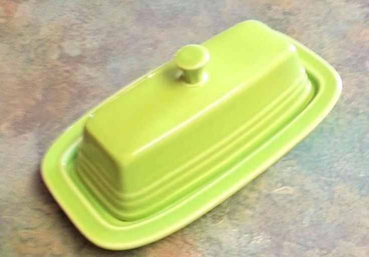Contemporary Fiesta Chartreuse Butter Dish  Price Reduced #Fiesta