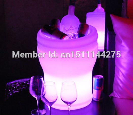 Slong luz LED luminoso champanhe térmica impermeável controle remoto + adaptador, Illuseo Lumineux LED balde de gelo alishoppbrasil