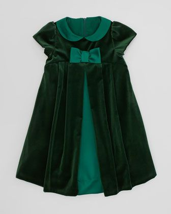 Florence Eiseman Velvet Bow Dress, Sizes 4-6X - Neiman Marcus