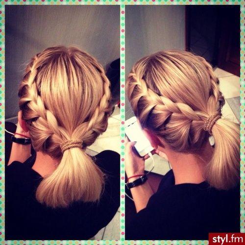 Fryzury Blond włosy: Fryzury Średnie Na co dzień Proste Warkocze Blond - Roki Balboa - 2431967