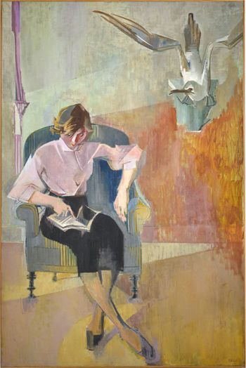 The Pink Blouse (1955) by Francoise Gilot art, artwork, paintings