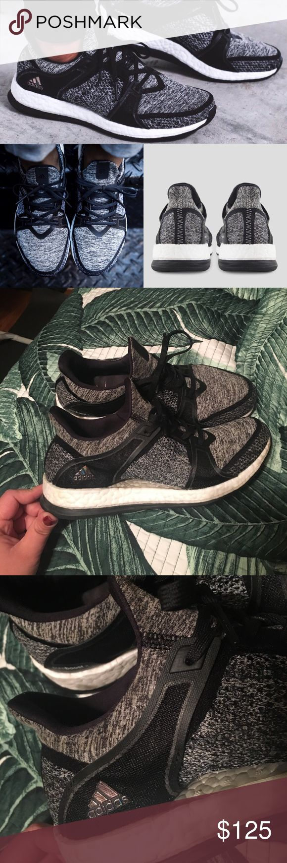 Adidas Pure Boost X Reigning Champ Beautiful and comfortable adidas trainers . Provide incredible comfort while being very cute . New condition only worn a handful of times ! Great used condition , limited edition style! Adidas Shoes Athletic Shoes