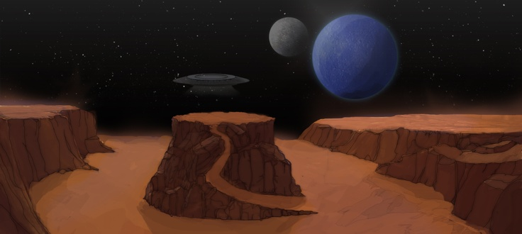Game Art: The Greys' home planet