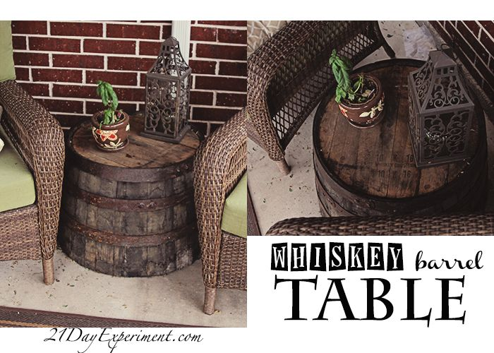 outdoor table - Whiskey Barrel planter from Home Depot - 18 Best Whiskey Barrel Planters Images On Pinterest