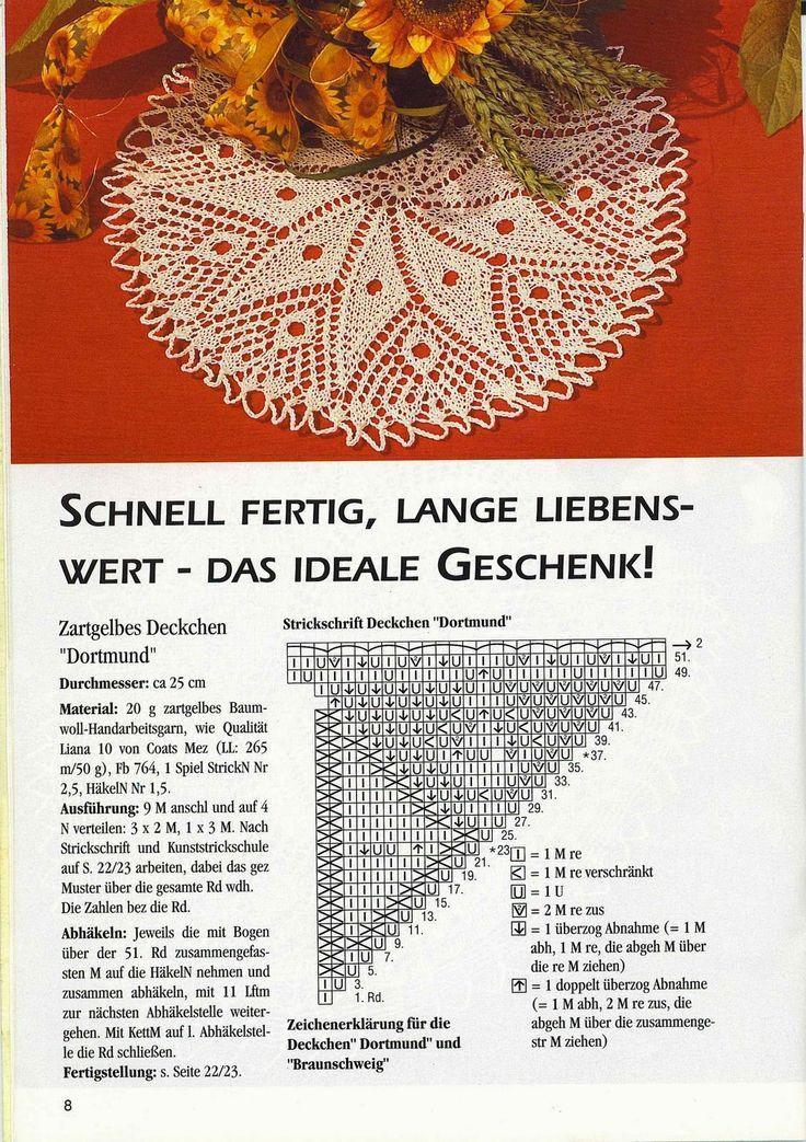 Knitted round napkin
