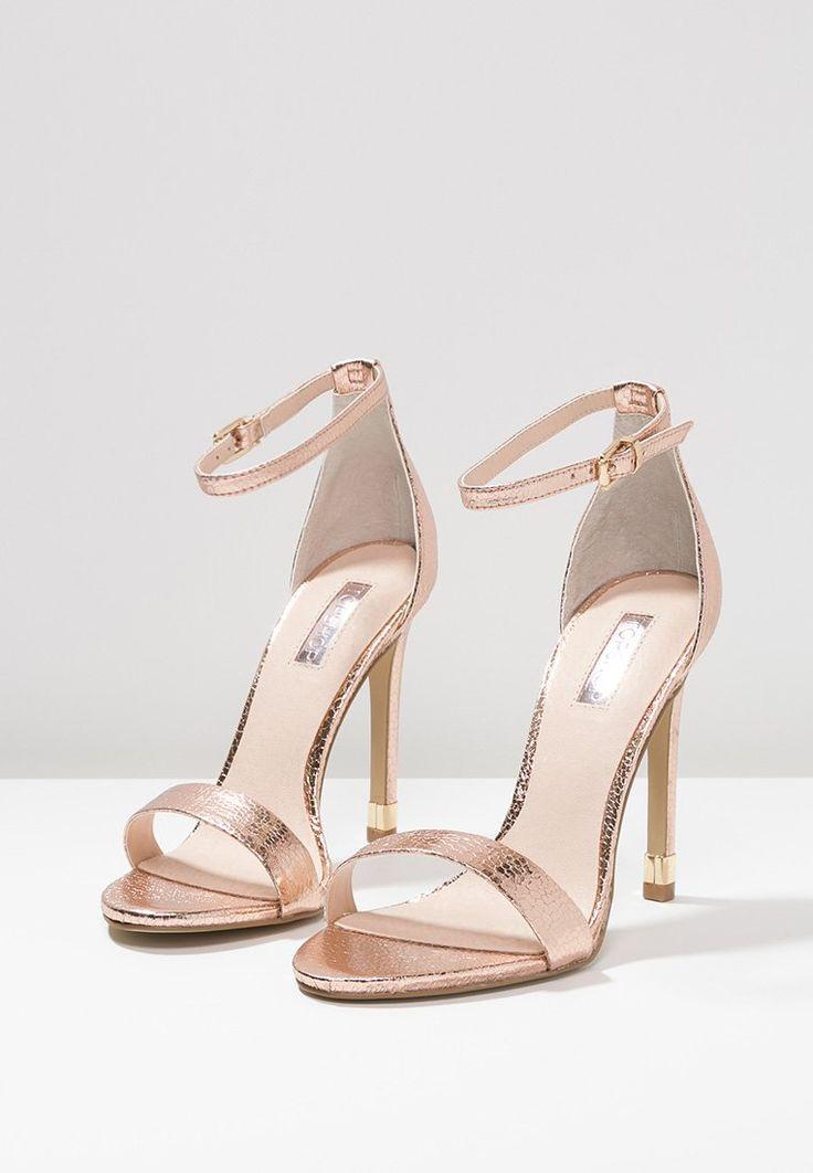 topshop ruby high heel sandaletten rose gold zalando. Black Bedroom Furniture Sets. Home Design Ideas