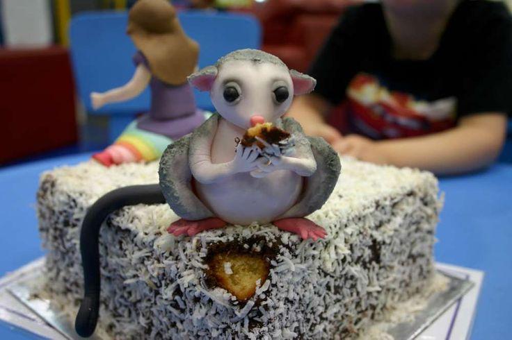 Possum magic lamington cake