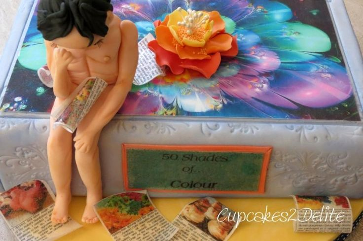 The Thinker in Colour - Cake by Lisa Cunningham