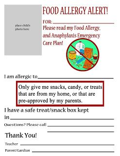 15 best Food Allergy Posters for the Classroom/School images on ...