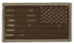 US Flag Reversed Desert Multi Cam (With Velcro)