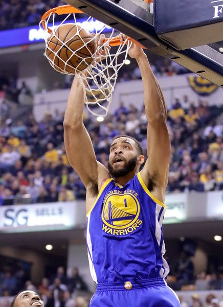 JaVale McGee #1 of the Golden State Warriors dunks the ball during the game against the Indiana Pacers at Bankers Life Fieldhouse on November 21, 2016 in Indianapolis, Indiana.    NOTE TO USER: User expressly acknowledges and agrees that, by downloading and or using this photograph, User is consenting to the terms and conditions of the Getty Images License Agreement