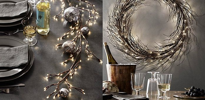 Starlit Branches And Wreath Restoration Hardware Levi 39 S And Sarah 39 S Wedding Pinterest