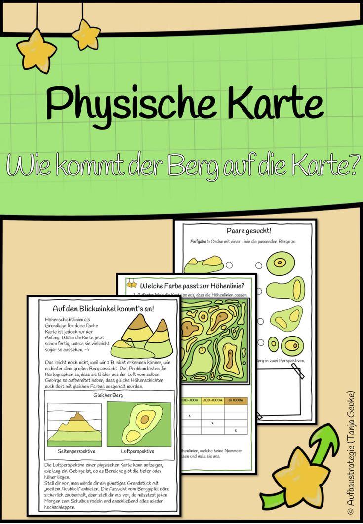 Physische Karte - Unterrichtsmaterial in den Fächern