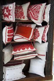 One of PIROSKA's favourites - traditional cushions from Kalotaszeg. www.piroska.com.au