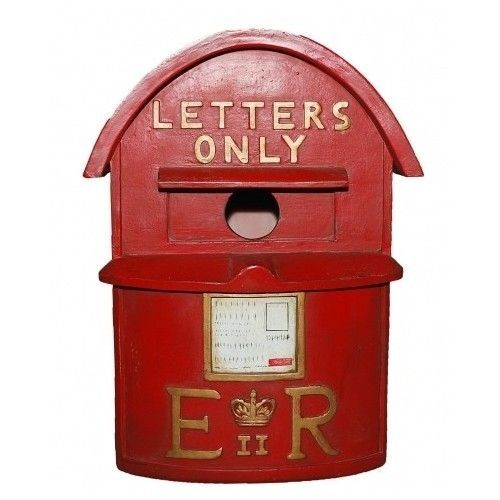 #PostBox #BirdHouse #Red #LetterBox #Tit #Nest #Traditional #English #Garden #Mail #Box