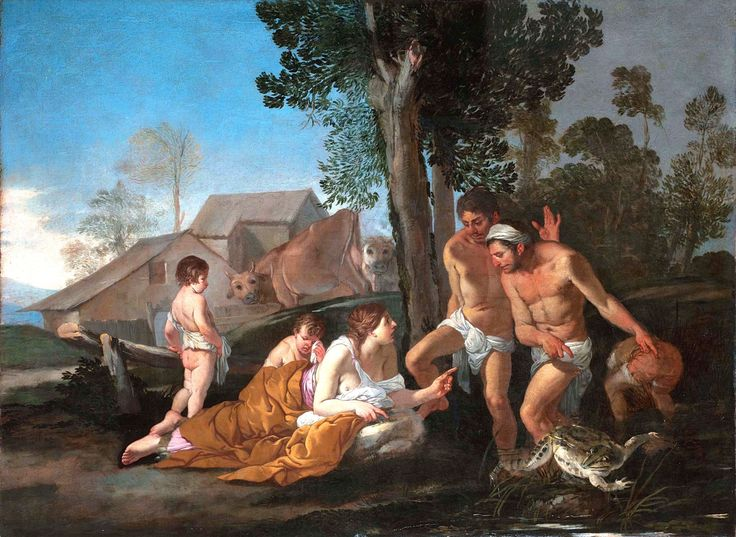 Giulio Carpioni (1613–1678): Latona Turning the Lycian Peasants into Frogs.