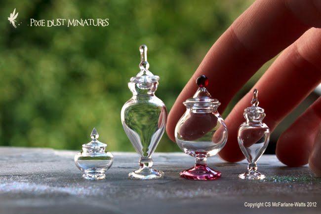 tiny apothecary jars