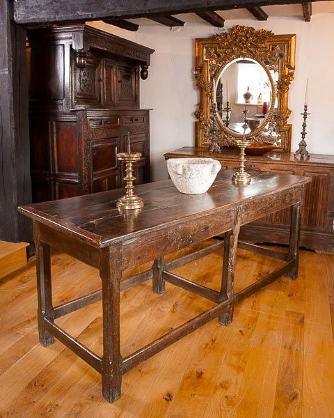 Late 17th century Welsh six leg table, Marhamchurch antiques