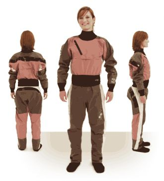 Women's GORE=TEX Icon Dry Suit for Cold water kayaking.