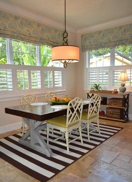 Roman Blind and Cafe Plantation Shutter Combination