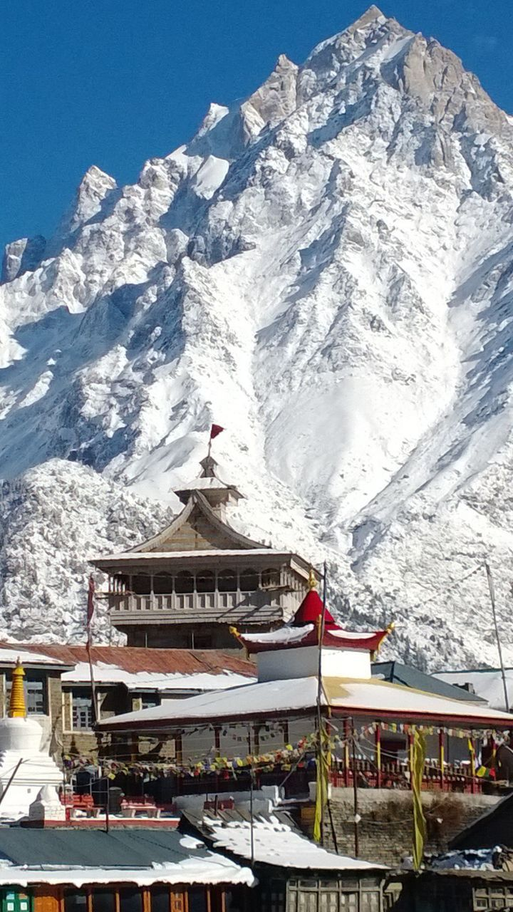 The majestic Kinner Kailash , Kalpa , India.