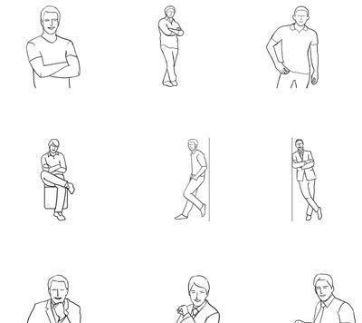 Guia de Poses fotográficas Masculinas